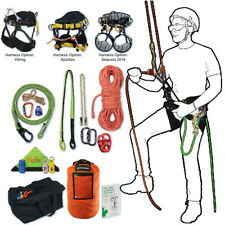 Tree Climbing Rope Kit,Deluxe w/ Spartan Saddle,150 'Rope,Flipline & More