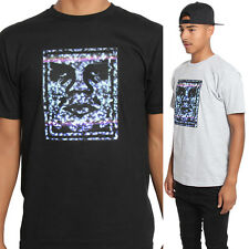 TheMogan Obey Guys Icon Face Graphic Print Basic Cotton T-Shirt Tee