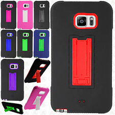 For Samsung Galaxy Note 5 IMPACT Hard Rubber Case Phone Cover Kickstand