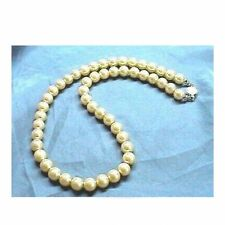 Golden GOLD Sea Shell Pearl Necklace Wedding Bridal Bridesmaid Prom 6mm 8mm 10mm