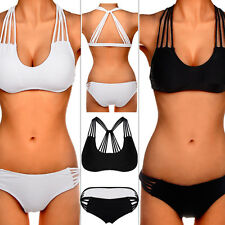 HOT SEXY WOMEN BANDAGE TOP BIKINI SET PUSH-UP PADDED BRA SWIMSUIT SWIMWEAR BEACH