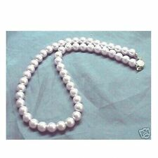 LAVENDER Sea Shell Pearl Necklace Wedding Bridal Bridesmaids Prom 6mm 8mm 10mm