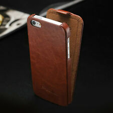 Vintage Design Ultra Slim Handmade Leather Case Flip Cover For iPhone 4 4S 5 5S