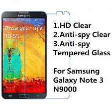 Tempered Glass/ Anti-Spy/ Normal Clear Screen Protector For Galaxy Note 3 N9000