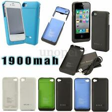 1900mAh USB Power Bank External Backup Battery Charger Case For iPhone 4 4S 4th