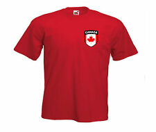 Canada Canadian Kids Football Soccer Team Short Sleeve T-shirt - All Youth Sizes