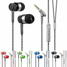 3.5mm Hemp Cord In-Ear Stereo Headset Earphone Headphone With Mic for Cell Phone