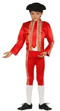 Boys Red Spanish Bull Fighter Matador Fancy Dress Costume Outfit 3-12 years