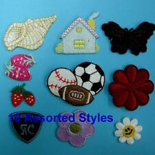 10 Patches Heart Flower Car Rainbow Iron on Sew Embroidered Patch Badge Applique