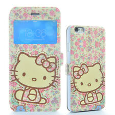 Hello Kitty Flower Smart Cover Window Leather Case Flip Skin Pouch For Apple