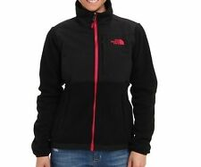 The North Face Womens Denali Jacket Fleece Coat Black Cerise S-M NEW