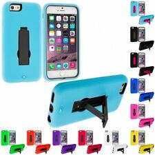 For Apple iPhone 6S Plus 5.5 Hybrid Impact Shockproof Hard Soft Case Cover Stand
