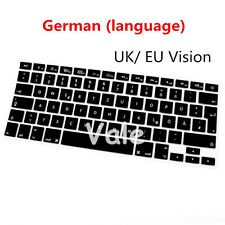 "German UK EU Keyboard Cover Skin for Apple Macbook Air Pro Retina MAC 13"" 15"" 17"