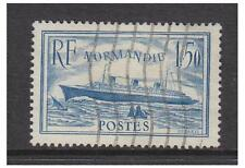 France - 1936, 1f50 Normandie (Greenish Blue) stamp - Used - SG 526a