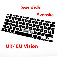 Swedish Type UK EU Keyboard Cover for Apple Macbook Air Pro Retina MAC 13 15 17