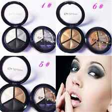 Beauty 3 Colors Sexy Natural Smoky Cosmetic Eye Shadow Palette Make Up Tool FT67