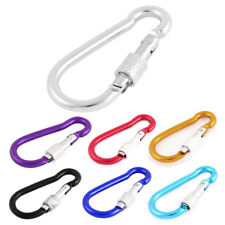 Traveling Fishing Spring Load Screw Lock Keychain Carabiner Hook
