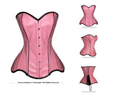 22 Full Double Steel Boned Waist Training PVC Overbust Corset #8460-C(DB-PVC)