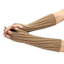 Soft comfortable Knitted Arm Fingerless Winter Gloves Unisex Soft Warm Mitten