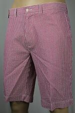Polo Ralph Lauren Pink White Striped Suffield Fit Seersucker Shorts NWT