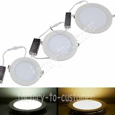 7W/12W/18W Bright LED SMD Recessed Ceiling Panel Down Light Bulb Lamp Round