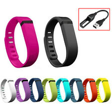 10 PCS L/S Replacement Wrist Band Wristbands With Charger Cable for Fitbit Flex