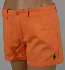Ralph Lauren Sport Orange Shorts Navy Blue Pony POLO Logo NWT