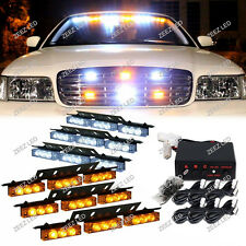 54 LED Emergency Hazard Warning Flash Strobe Light Bar Flashing Deck Dash Grille