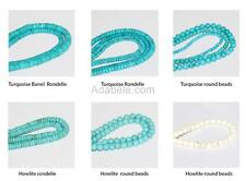 """High Quality Natural Turquoise or Howlite Gemstone Loose Beads Spacer Bead 15.5"""""""