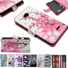 Flip PU Leather Wallet Card Holder Stand Folding Case Cover For LG Optimus Phone