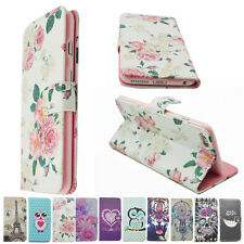 Credit Card Holder Flip Leather Rubber Wallet Case For Apple iPhone 6 6Plus 5 5S