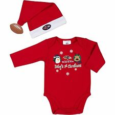 Baltimore Ravens Baby's 1st Christmas Long Sleeve Bodysuit and Cap Set (2-Piece)