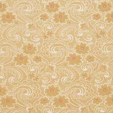 D121 Gold White and Red Paisley Floral Brocade Upholstery Fabric