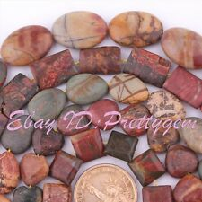 "Multicolor Picasso Jasper Beads Gemstone Loose Strand 15"" For DIY Jewelry Making"
