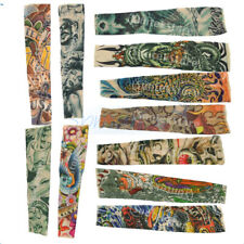 Stretchy Fake Temporary Tattoo Sleeve Arm Stocking Gothic Punk - VARIOUS STYLE