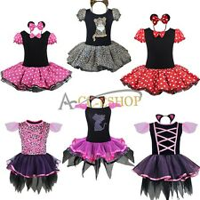 Halloween Birthday Girls Kids Party Cute Minnie Mouse Fancy Dress Costume Outfit