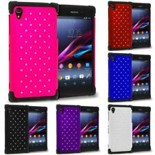 For Sony Xperia Z1 L39H Hybrid Diamond Bling Lace Case Cover Color