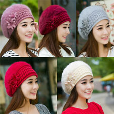 Winter Warm Women Girls Beret Braided Baggy Beanie Crochet Knit Cap Hat New 189