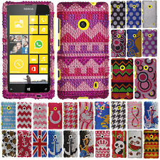 For Nokia Lumia 521 Gentleman Crystal Bling Snap On Hard Case Cover Accessory