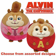 "TY - Large 12"" BEANIE BALLZ - Alvin & the Chipmunks - Assorted Designs"