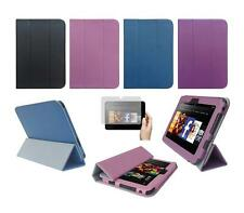 """Folio Smart Cover Case and Screen Protector for Amazon Kindle Fire HD 7"""" 2012"""