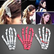 2pcs Stylish Girls Celebrity Hair Clips Hairpin Zombie Skeleton Hand Bone Claw