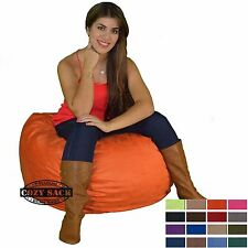 Bean Bag Chair 2' Foot kids Cozy Bean Bag Factory Direct By Cozy Sack Pick Color