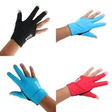 3 Fingers Glove for Billiard Pool Cue Table Snooker Shooters Left Hand 3 Colors
