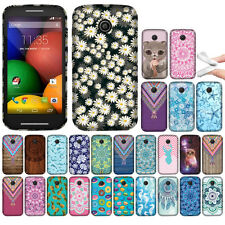 For Motorola Moto E 1st Gen 2014 Various Pattern TPU SILICONE Rubber Case Cover