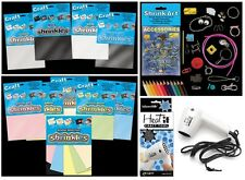 SHRINKLES SHRINKIE SHRINK PLASTIC ART CRAFT COLOUR EMBELLISHMENTS JEWELLERY