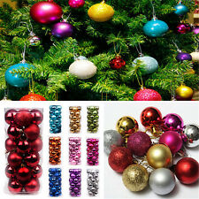 24PC Fun Cool Xmas Tree Ball Bauble Hanging Ornament Party Holiday Decor FT76