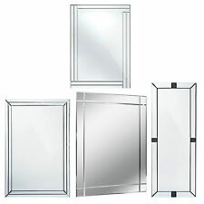 Large Bevelled Wall Rectangle Full Length Mirror Bedroom Bathroom Furniture