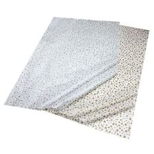 GIFT WRAPPING TISSUE PAPER Gold & Silver Stars Combo Pack Recycled 50x76cm 3258