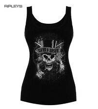 Official Ladies T Shirt Vest Top Guns n Roses   Faded Skull All Sizes